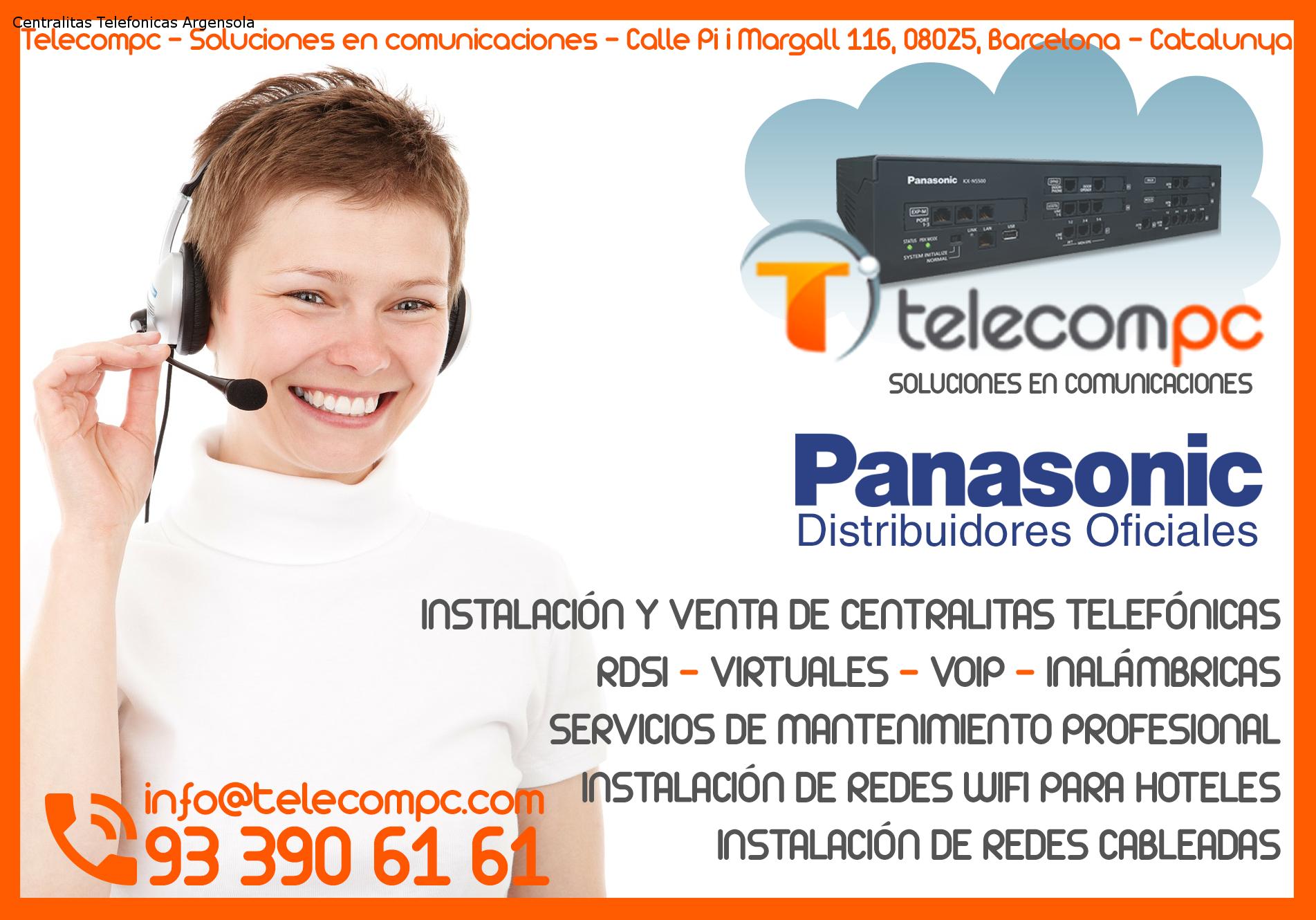 Centralitas Telefonicas Argensola