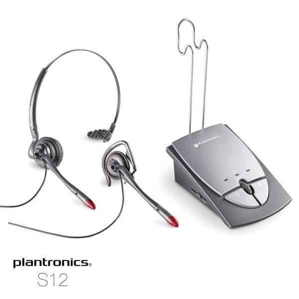 auricular plantronics amplificado s12